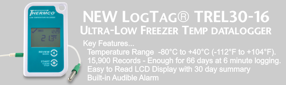LogTag TREL30-16 Cryo Temperature Data Logger