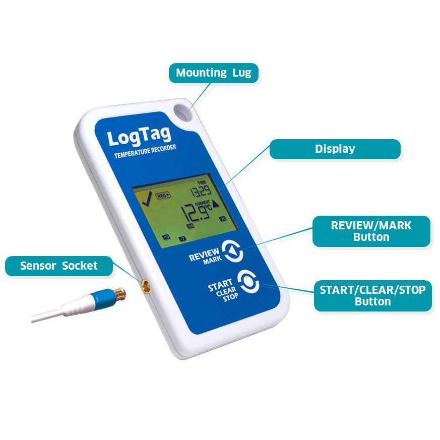 Data Logger Thermometer For Vaccines : Logtag tred r vfc temperature data logger thermco