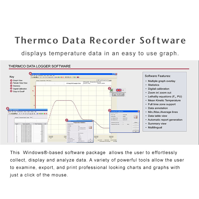 Product Data Logger Software : Cryo temp deg data logger