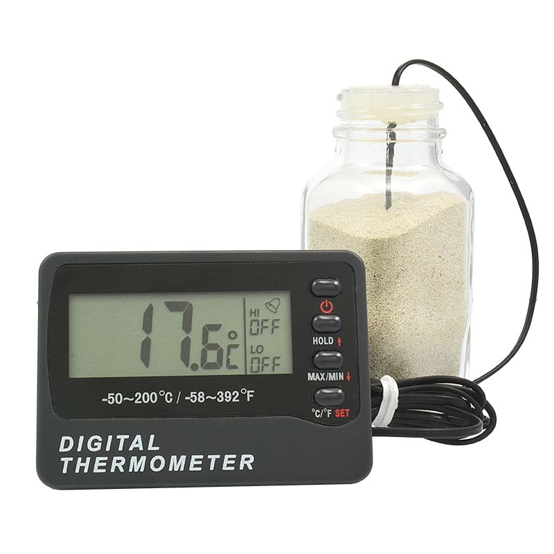 Thermco Digital Bottle MIN-MAX ALARM Thermometer Kit ACC801WB ACC801OV