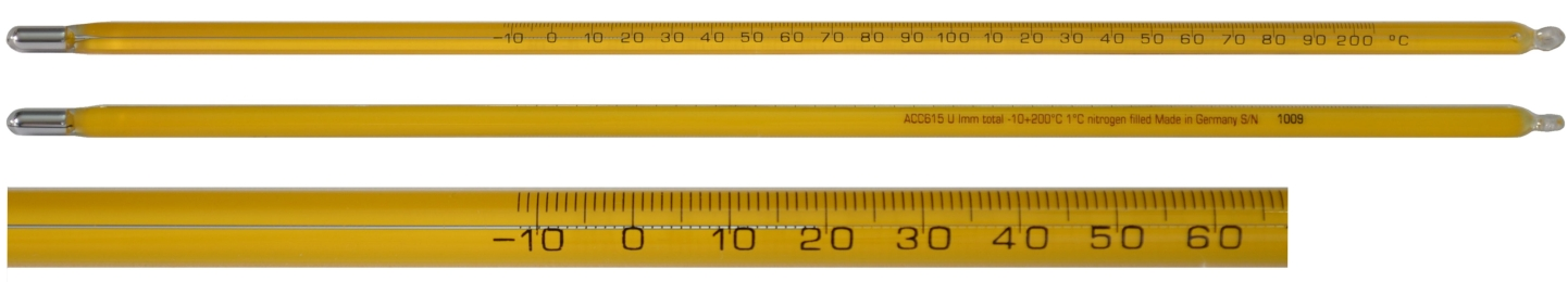 PRECISION - Hg Laboratory Thermometers