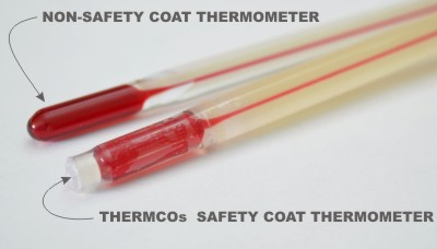 Safty-Coated Spirit Thermometer