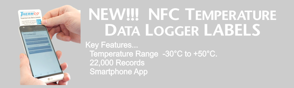 NFC Tempature Data Logger Label
