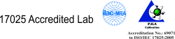 17025 Accredited Lab